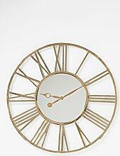Kare Design Giant Gold Wanduhr, Ø120 cm
