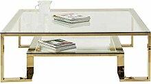 Kare Design Gold Rush Couchtisch, 120 x 120 cm