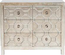 Kare-Design KOMMODE , Silber , Metall , 6