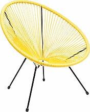 Kare Design Sessel Acapulco Gelb, moderner