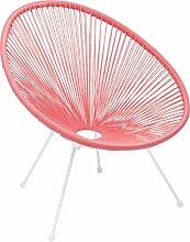 Kare Design Sessel Acapulco Pink, moderner