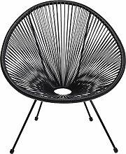 Kare Design Sessel Acapulco Schwarz, moderner
