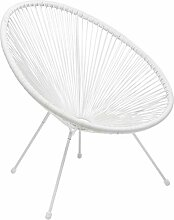 Kare Design Sessel Acapulco Weiß, moderner