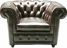 Kare Design Sessel Oxford, Echtledersessel,