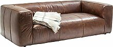 Kare Design Sofa Cubetto 2,5 Sitzer, Ledersofa