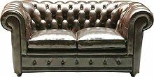 Kare Design Sofa Oxford 2-Sitzer, Echtledersofa,