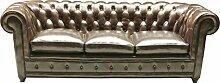 Kare Design Sofa Oxford 3-Sitzer, Echtledersofa,
