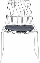 Kare Design Stuhl Solo Schwarz Chrom (2/Set)