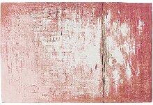 Kare Design Teppich Abstract Dunkelrosa, großer