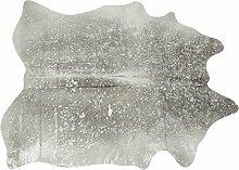 KARE Design Teppich Hide Acid Wash Silber