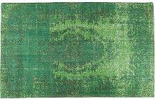 Kare Design Teppich Kelim Ornament Grün, großer