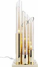 Kare Design Tischleuchte Pipe Gold 80 cm, große,