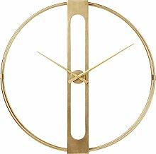Kare Design Wanduhr Clip Gold Ø107cm, große Uhr