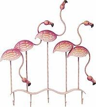 Kare Flamingo Party Garderobe, Metall, Rosa, 7.5 x