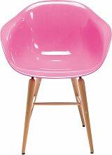 Kare Forum Stuhl mit Armlehne, Holz, Pink