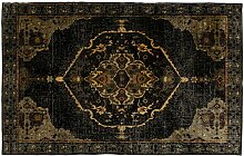 Kare Teppich Ornamento anthrazit