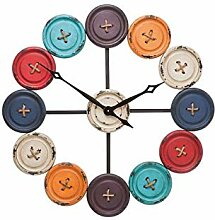 Kare Wanduhr Buttons Accessoires, Edelstahl,