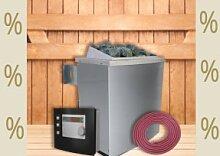 Karibu Aktions Saunaofen 9 kW finnisch mit