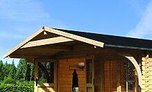 Karibu Gartenhaus Hardenberg 1 mit Vordach