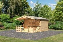 Karibu Holz Gartenhaus Buxtehude 3 inkl. Vordach