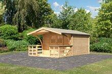Karibu Holz Gartenhaus Buxtehude 4 inkl. Vordach