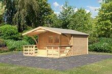 Karibu Holz Gartenhaus Buxtehude 5 inkl. Vordach
