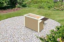Karibu Holz Hochbeet 1 inkl Schrankoption Farbe: