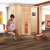 Karibu Sauna Bodin mit Energiespartür + gratis Zubehörpaket (bis zu 300,- EUR extra sparen)