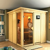 Karibu Sauna Helin mit Ganzglastür und Panoramafenster + gratis Zubehör! (bis zu 300,- EUR extra sparen)