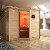 Karibu Sauna Sahib 2 Massivholzsauna mit bronzierter Ganzglastür + gratis Zubehör! (bis zu 300,- EUR extra sparen)