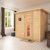 Karibu Sauna Sonara Massivholzsauna mit Energiespartür + gratis Zubehör! (bis zu 300,- EUR extra sparen)