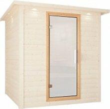 Karibu Sauna Türelement Satiniert für Sauna