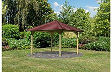KARIBU Set: Holzpavillon Cordoba 1, BxT: 289x289 cm