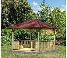 KARIBU Set: Holzpavillon Cordoba 2, BxT: 289x289 cm, inkl. Brüstung und Fußboden
