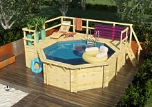 Karibu Swimming Pool Holzpool Variante E 2
