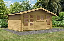 Karibu Woodfeeling Gartenhaus Lagor 2 40 mm 2-Raum-Haus