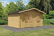 Karibu Woodfeeling Gartenhaus Radur 1 28 mm 2-Raum-Haus