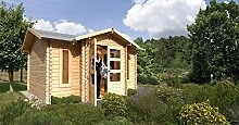 Karibu Woodfeeling Gartenhaus Viscont Blockbohle 28mm