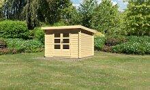Karibu Woodfeeling Holz-Gartenhaus Pultdach