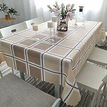 Kariert- Wasserabweisendtafelkleed Tischdecke