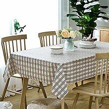 Kariert- Wasserabweisend Tischdecke Tischdecken