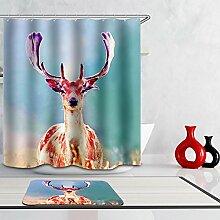Karikatur-Dekoration-Textilentwurfs-Gewebe-wasserdichter Badezimmer-Duschvorhang,B-180*180CM
