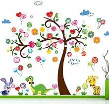 Karikatur Messung Höhe Wandaufkleber Baby Kinderzimmer Dekoration , c