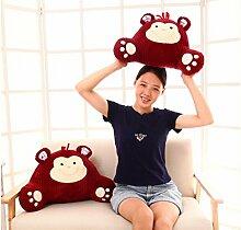 Karikatur-Stuhl-Lendenkissen-Lendenkissen-Auto-Sofa-Kissen für schwangere Frauen ( farbe : Scarlet , größe : 35*58cm )