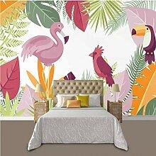 Karikatur-tropischer Flamingo-Hintergrund-Tapete