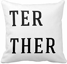 KarilShop Better Together Linen Throw Pillow Case Cushion Cover Home Sofa Decorative 18 X 18