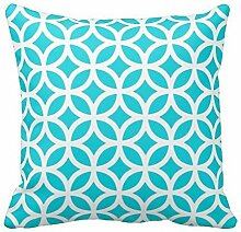 KarilShop Geometric02 Linen Throw Pillow Case Cushion Cover Home Sofa Decorative 18 X 18 Inch.