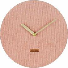 Karlsson Corduroy Uhr, Wanduhr, Cord, Rosa, One