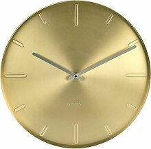 KARLSSON KA5594GD Wanduhr Belt Metall 3.5 x 40 x 40 cm, Gold