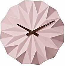 Karlsson - Wanduhr - Origami - Keramik - matt soft pink - Ø 27 cm